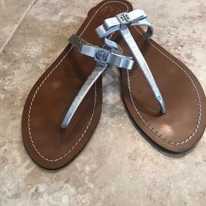 Tory Burch silver strap sandals